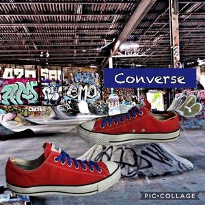 Unisex red low top converse